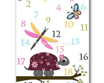 Playroom Decor Digital Download Turtle Printable Art Instant Download Numbers Nursery Art Digital Art Baby Girl Nursery Art 8x10 11X14