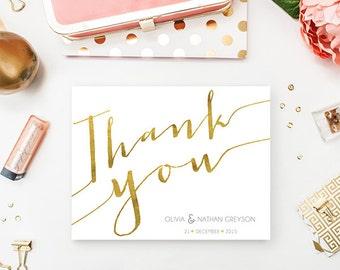 Gold Thank You Card (Printable)