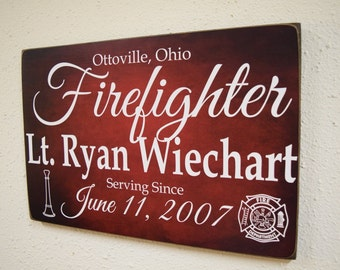 Firefighter Service Sign, Fireman Sign, Firefighter Gift, Fireman Gift, Firefighter Decor, Fireman Decor, Firefight Sign, Fireman Sign