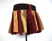 Patchwork Skirt, Upcycled clothing, Hippie Skirt, Corduroy Skirt, Boho Chic clothing, Hippie Clothes, Bohemian Clothing, Short Skirt, Pixie