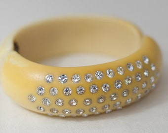 snazzy vintage Weiss hinged cuff/clamp bracelet- sale!