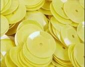 Glossy Lemon Sorbet Cupped Sequins 8mm - JR02718