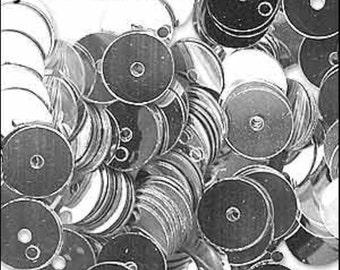 Metallic Silver Flat Sequins 6mm - JR01424