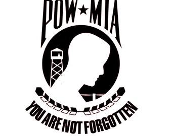 POW MIA vinyl decal
