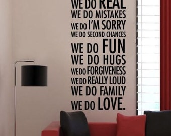 In This House Wall Decal Vinyl Art Sticker