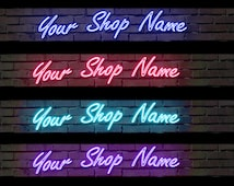 Custom Neon ETSY  Shop Banner  Sent in EMAIL   Choice of color to fit your shop decor! Stand Out!