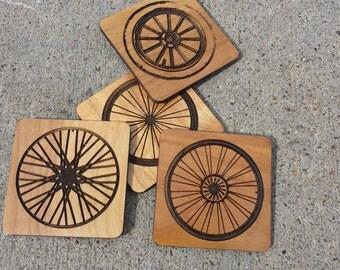 Bicycle Wheel Coaster Set