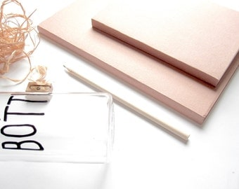 "10.6"" x 7.5"" // Large Pink Simplicity Eco-Friendly Sketchbook Journal 。 Drawing Sketchbook 。 Blank Notebook 。 Travel Journal"