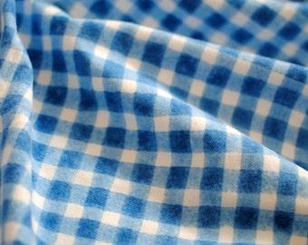 "Japanese Fabric Flannel ""Magic Plaid"" Blue"