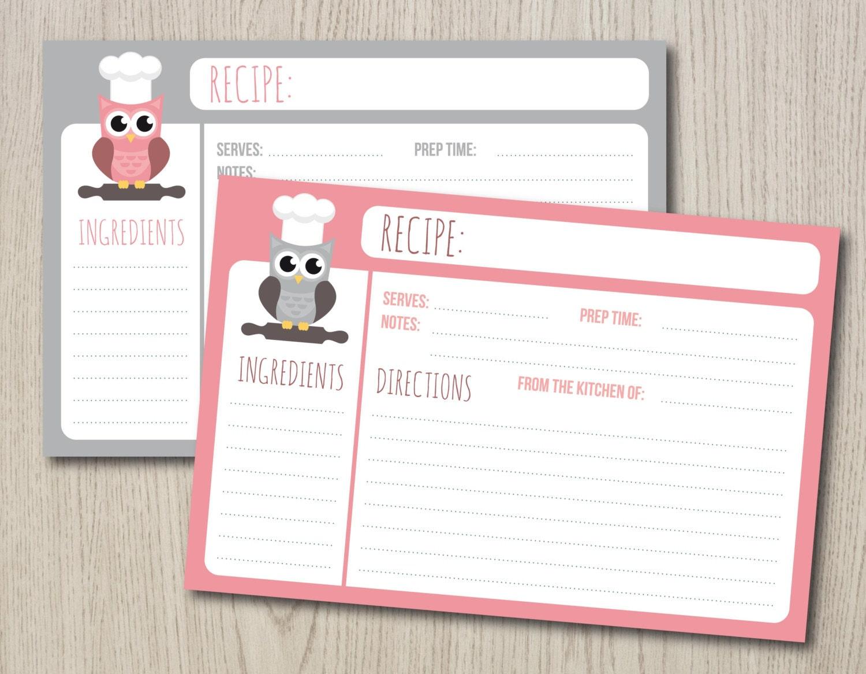 Recipe Card Template Cute | www.pixshark.com - Images ...