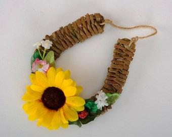 """Horseshoe for good luck """"Sunflower"""""""