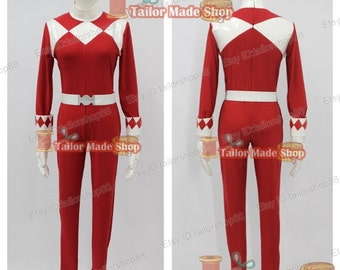 Ranger Red Rangers cosplay costume male bodysuit Red