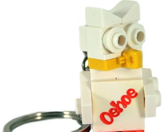 Personalised lego® owl keychain