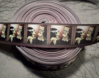 Frankenstein and Bride Horror Movie Monster Grosgrain ribbon