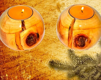 Candlestick Candle Holder (two) with a candles support under candles a decor element the Christmas New year souvenir #P5