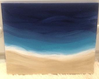 Aerial Beach Painting on Canvas
