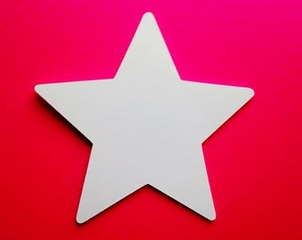 "Large White Star Die Cuts (4"" wide), White Star Cutouts, All Purpose Paper Stars, Star Decor"