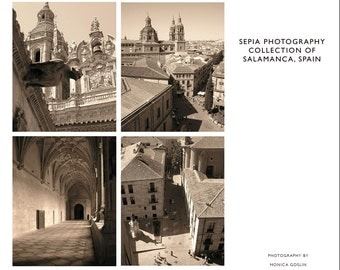 Sepia Photography Collection of Salamanca, Spain