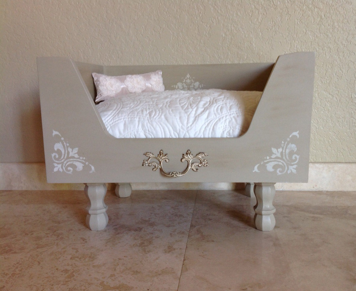 luxury designer dog bed taupe and cream drawer bed by rubypetal