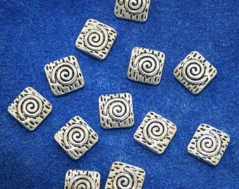 Pewter Beads Bali Style  12 Beads   (10 mm)