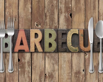 Backyard Barbecue Rustic Paper Placemats