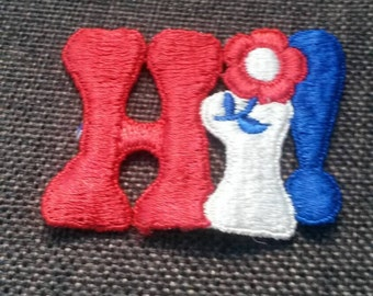 1 Piece HI Large Word Applique Patch Sew On