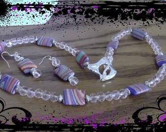 Rainbow Turkey Turquoise necklace set