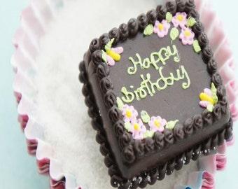 birthday cake ring- food jewelry, miniature food ring