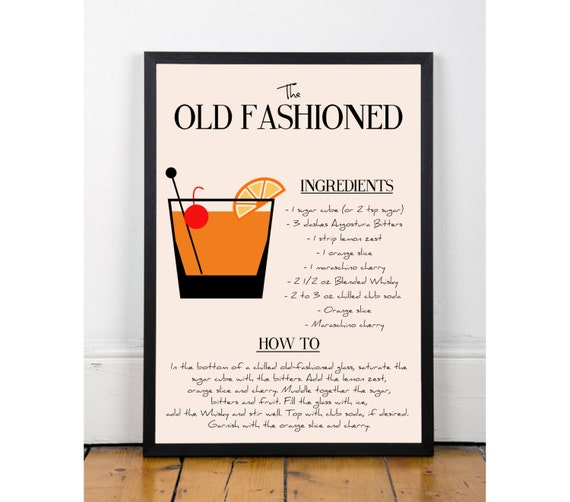 Kitchen Art Printables Collection Sale Instant Download: Old Fashioned Print Printable Wall Art Decor Poster Kitchen