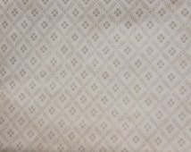 Vintage wallpaper sample from 1926 with floral geometric pattern in silver - paper for craft, decoupage, collage OFFER buy 2 get 1 free