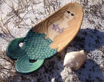 mermaid bowl or trinket soap dish