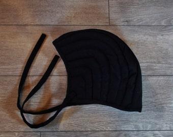 Medieval helmet coif, larp reenactment
