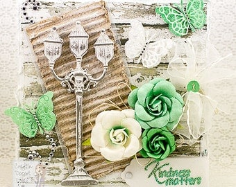 Handmade Shabby Chic Greeting Card