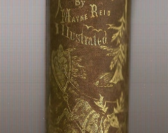 Antique 1861 Odd People By Captain Mayne Reid Illustrated Hardback Book