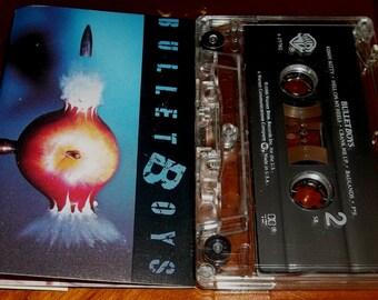 BULLETBOYS 1980's Vintage Cassette Tape Heavy Metal Smooth Up In Ya Van Halen King Kobra Related Gibson Les Paul