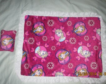 Frozen American girl bedspread or blanket and pillow