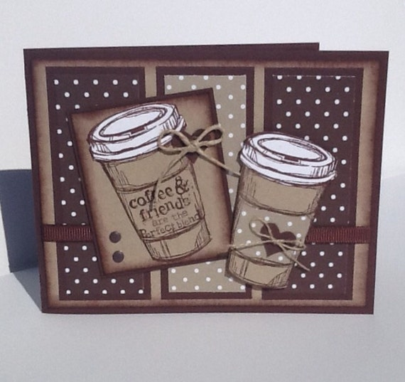 stampin up birthday card handmade coffee card happy, Birthday card