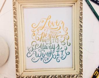Framed Letterpress Print