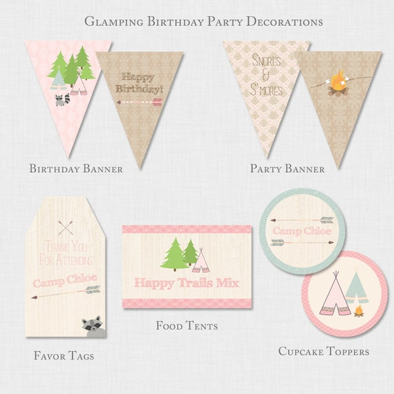 Glamping Birthday Party Decor Camping Party Decorations