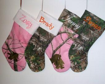 Personalized Camo Christmas Stocking
