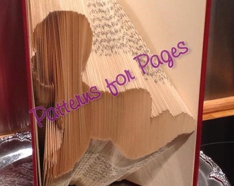 Book folding pattern for CRAWLING BABY