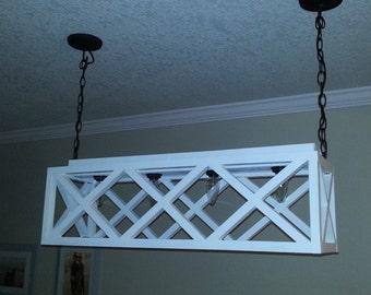 Decorative  handmade wooden hanging light