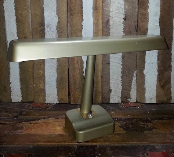 Vintage Industrial Fluorescent Light: Vintage Metal Industrial Age Fluorescent Desk Lamp Mid Century