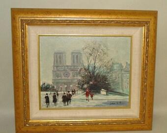 Jules Rene Herve Oil Painting Notre Dame Winter Paris France