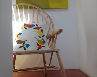 EMBROIDERY APPLIQUE KIT Sunbird Cushion Kit in pure wool  Scandinavian style