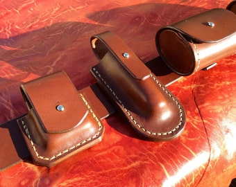 Belt bushcraft leather, handmade in France