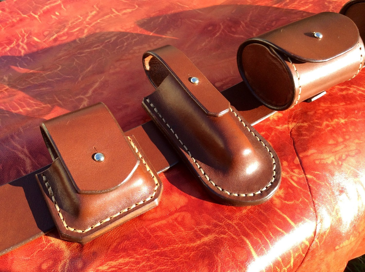 belt bushcraft leather handmade in by koffpolo on etsy