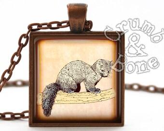 Pine Marten Necklace - Nature Jewelry - Animal Pendant Decoration  & Charm - Handmade