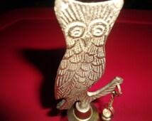 Vintage Brass Owl Bell