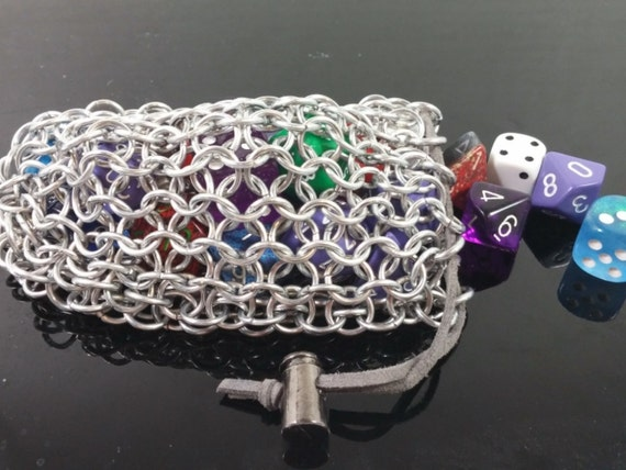 Chainmaille pouch geek gifts for men dungeons and dragons for Dragon gifts for men